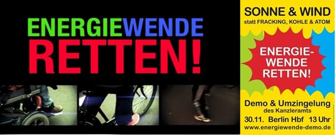 Aufruf zur Energiewende-Demo am 30.11.13 in Berlin