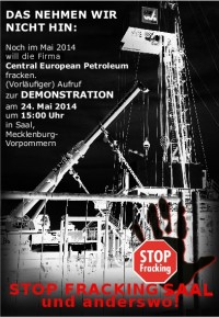 Demonstration gegen Fracking am 24.5.2014 in Saal