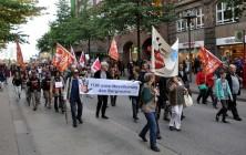 Mitstreiter der BI-FFH bei der Demo gegen die Freihandelsabkommen.