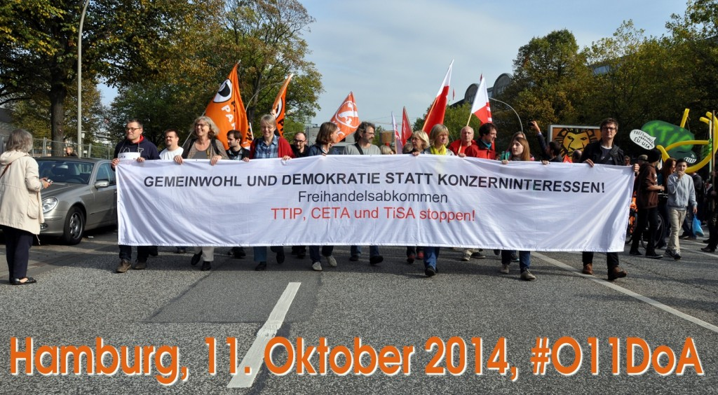 Start des Demonstrationszuges am Besenbinderhof